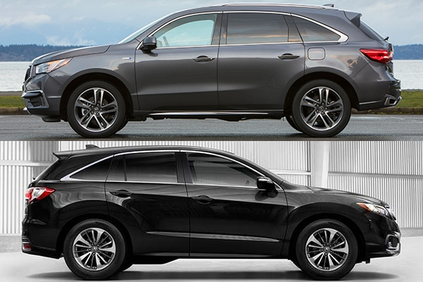 2018 acura mdx vs 2018 acura rdx whats the difference Dimensions Of Acura Rdx
