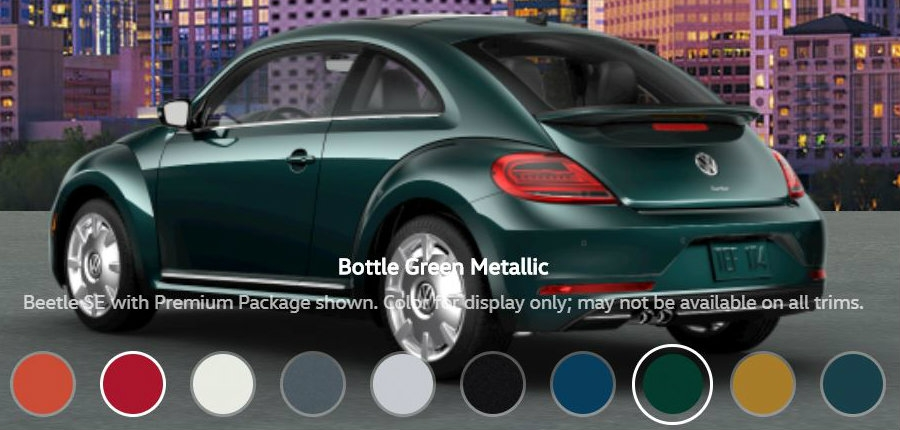 2018 beetle bottle green metallico donaldsons volkswagen Volkswagen On The Green
