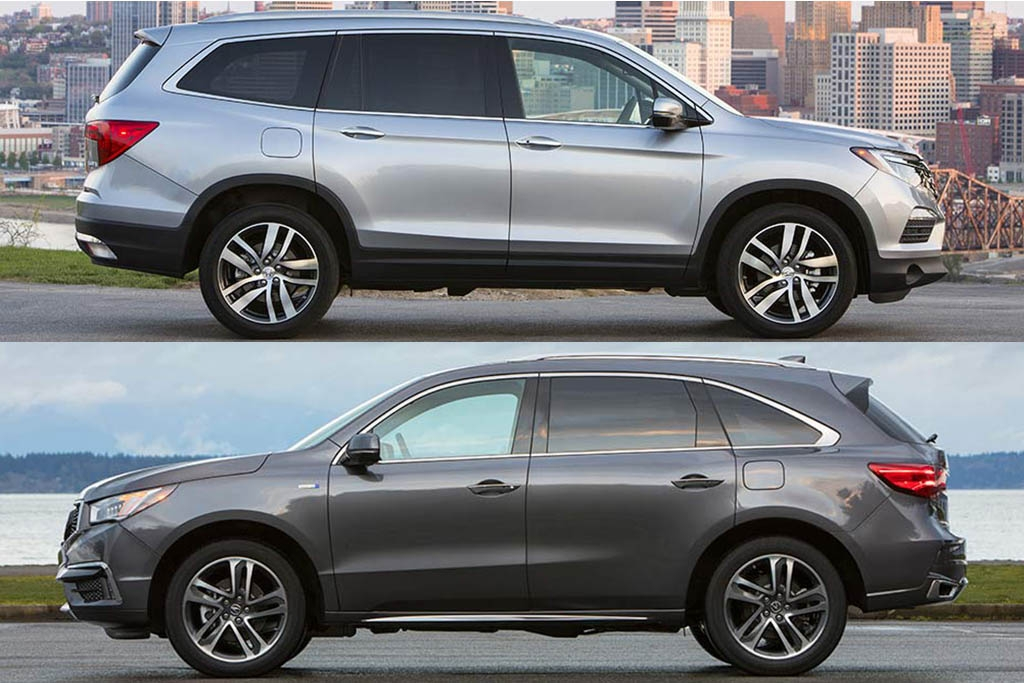 2020 honda pilot vs 2020 acura mdx whats the difference Honda Pilot Vs Acura Mdx