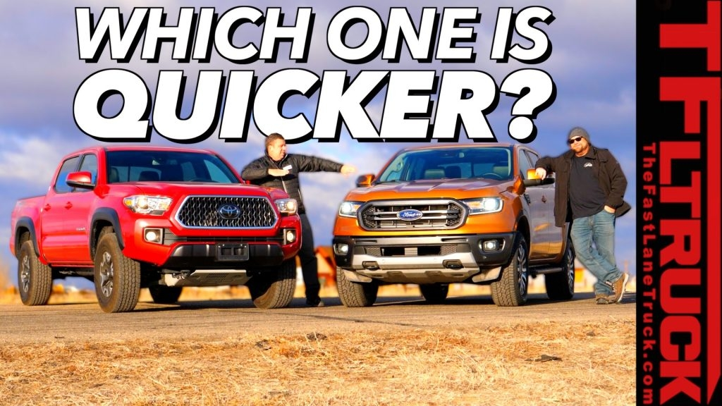 2020 ford ranger 0 60 mph and toyota tacoma drag race video Ford Ranger Zero To 60