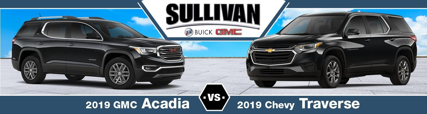 2019 gmc acadia vs 2019 chevy traverse sullivan buick gmc Gmc Acadia Vs Chevy Traverse