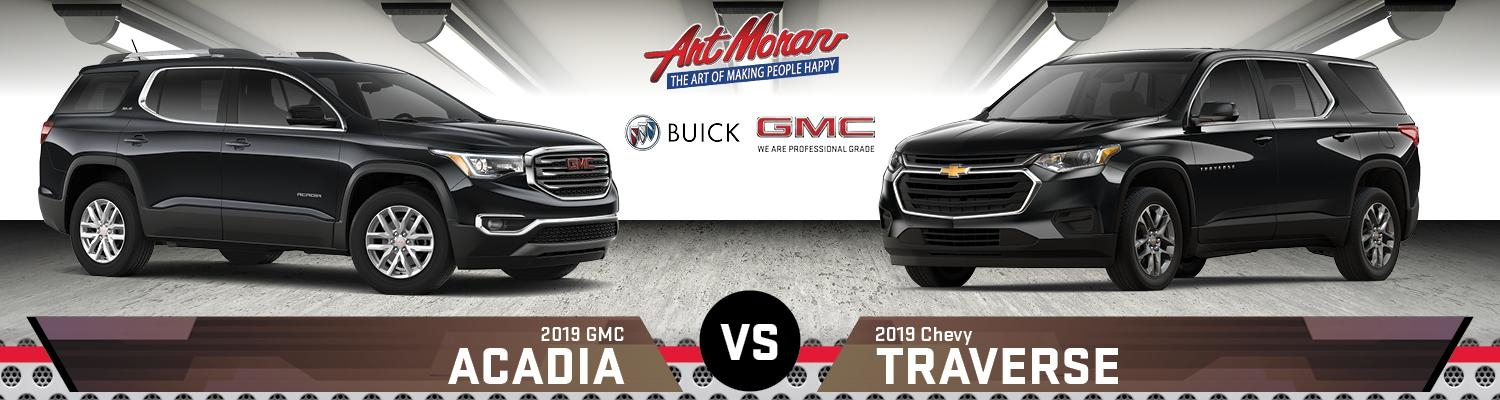 2019 gmc acadia vs chevy traverse Gmc Acadia Vs Chevy Traverse