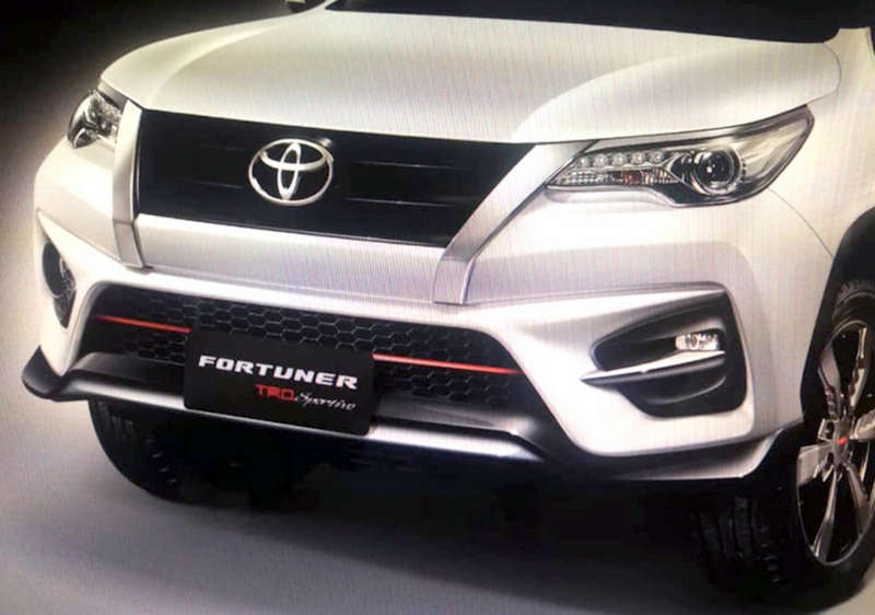 2020 toyota fortuner trd sportivo suv debuts india launch Upcoming Toyota Fortuner