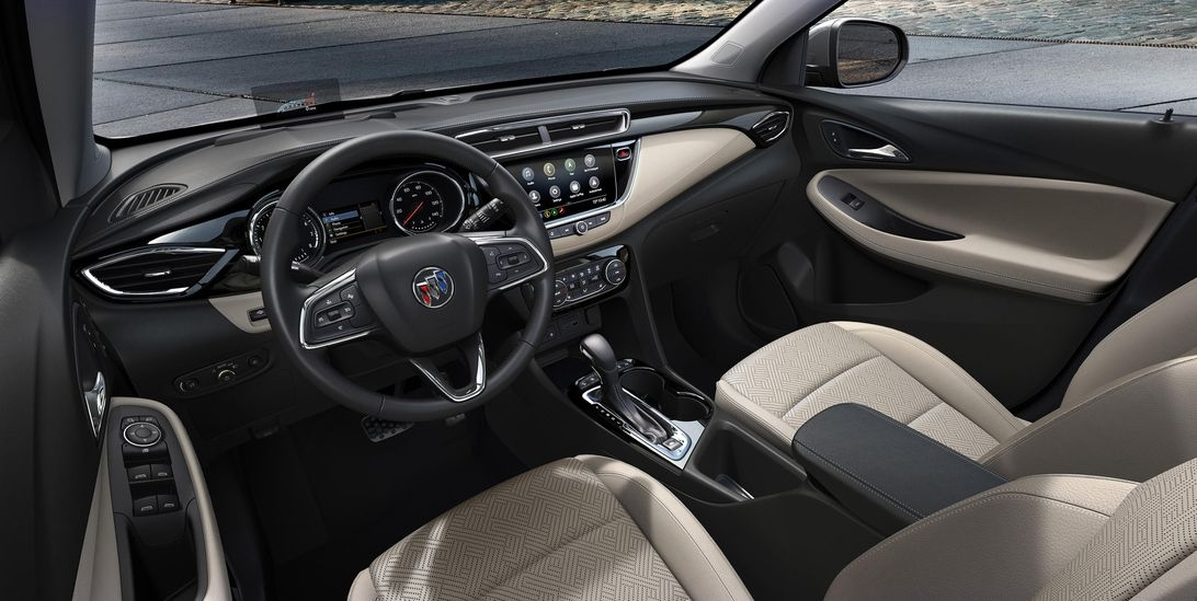 2020 buick encore gx splits the difference between encore Buick Encore Gx Interior