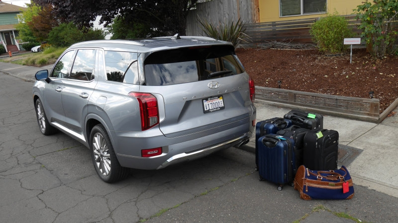2020 hyundai palisade luggage test how much fits in the Hyundai Palisade Length