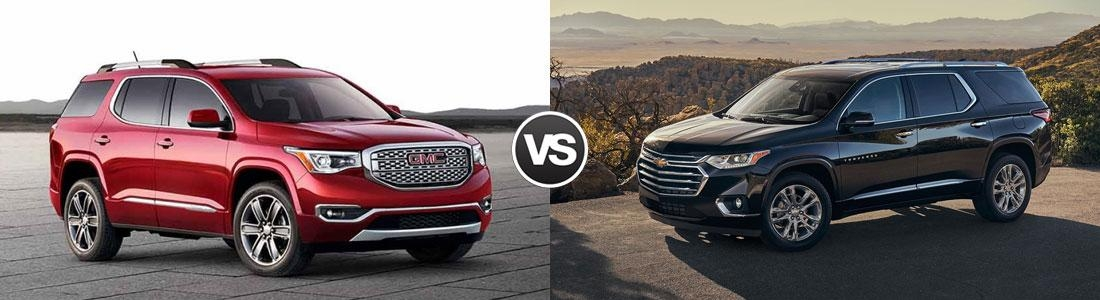 compare 2018 gmc acadia vs 2018 chevy traverse beachwood oh Gmc Acadia Vs Chevy Traverse