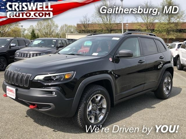 diamond black crystal pearlcoat 2019 jeep cherokee trailhawk 4x4 for sale at criswell auto 1c4pjmbx1kd421833 Jeep Cherokee Trailhawk
