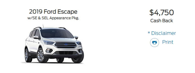 ford escape discount drops pricing 4250 in november 2020 Ford January Incentives