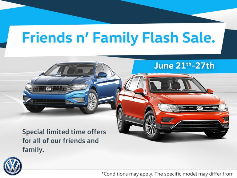 friends n family sale offer cros vw Volkswagen Offers June