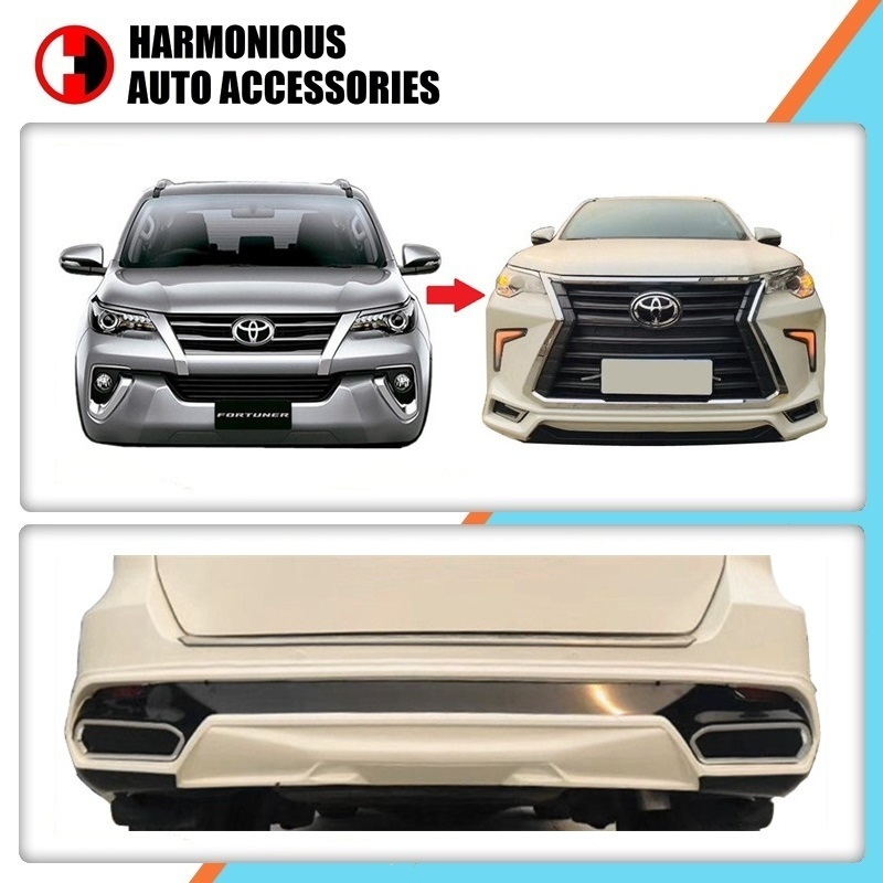hot item lexus style bodykits front and rear bumper for toyota fortuner sw4 2020 2020 Toyota Fortuner Lexus Body Kit