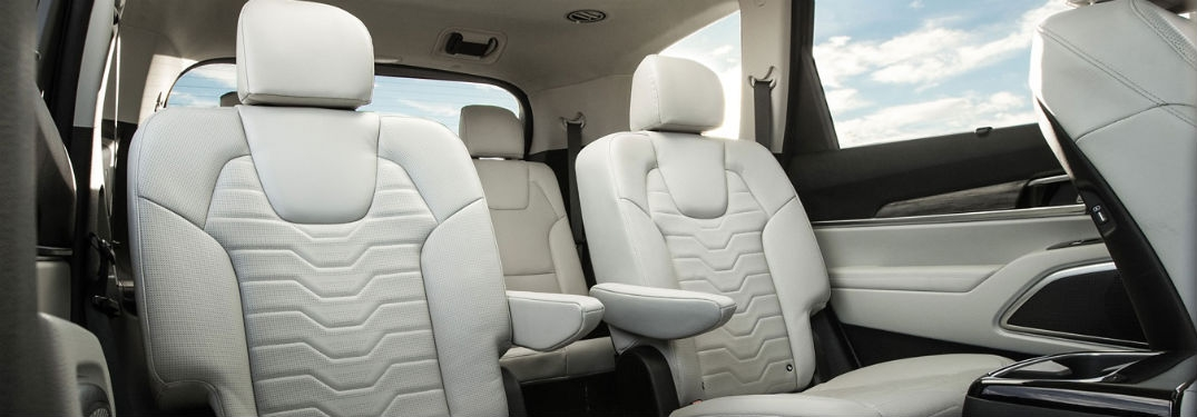 kia telluride seating capacity and passenger space Kia Suv Telluride Interior