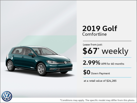 lease the 2019 golf les automobiles popular vw promotion Volkswagen Lease Deals May