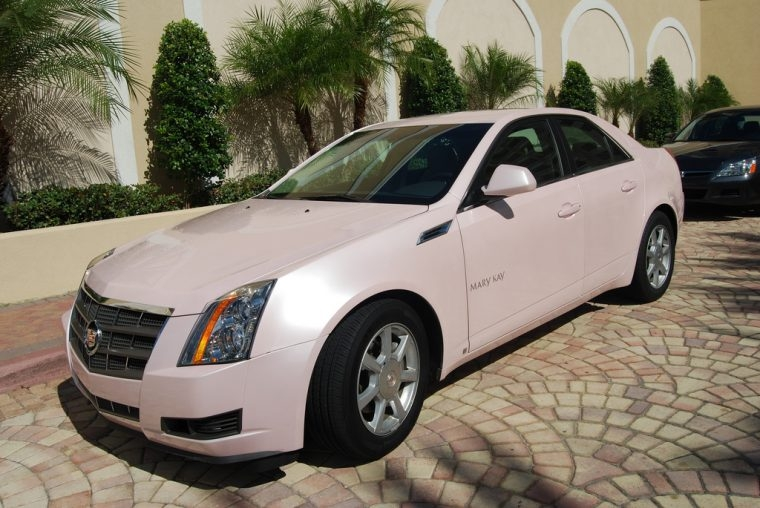 mary kay sales director earns 13 pink cadillacs and Mary Kay Pink Cadillac