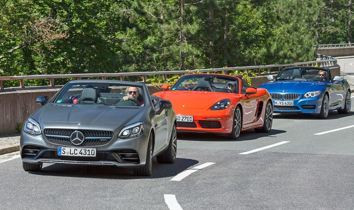 roadster triathlon mercedes amg slc 43 vs bmw z4 porsche Bmw Z4 Vs Mercedes Slc