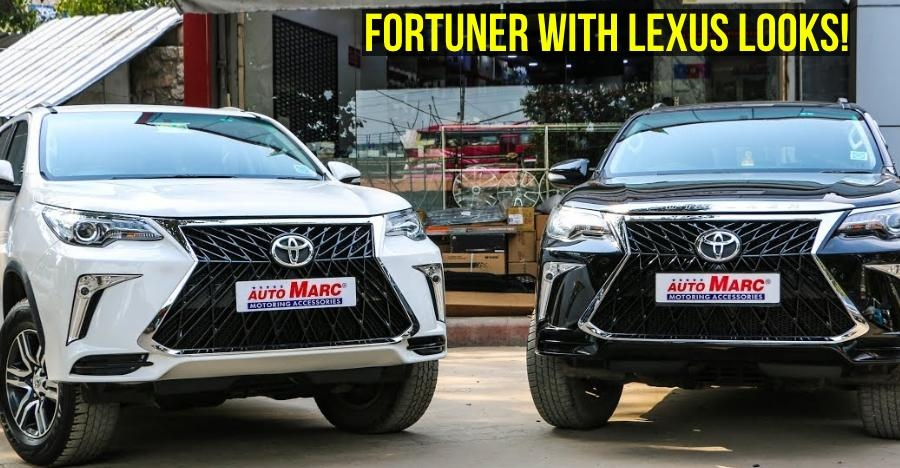 toyota fortuner to lexus lx 570 transformation with a simple kit Toyota Fortuner Lexus Body Kit