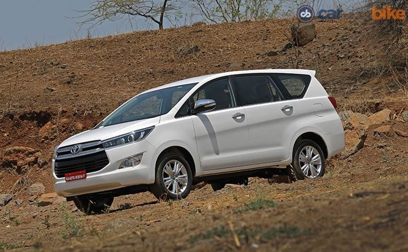 toyota innova crysta petrol launched in india prices start Toyota Innova Crysta India