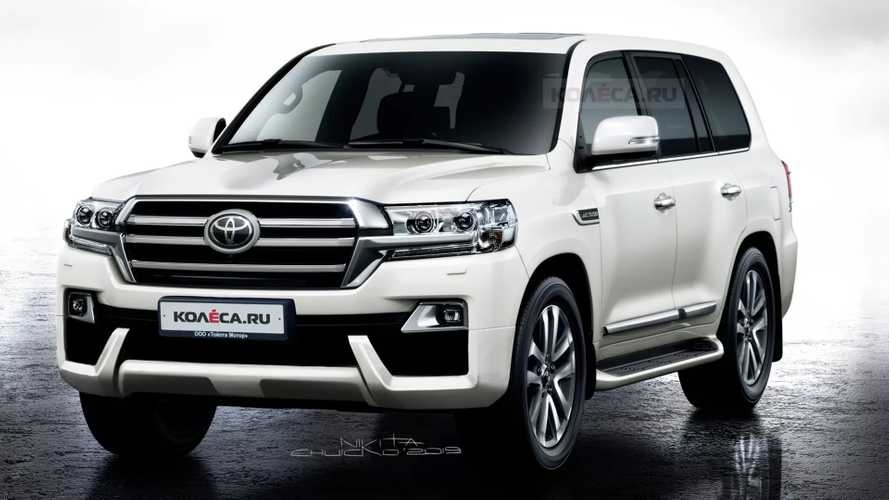 toyota land cruiser rendering shows a minor facelift for the Toyota New Land Cruiser