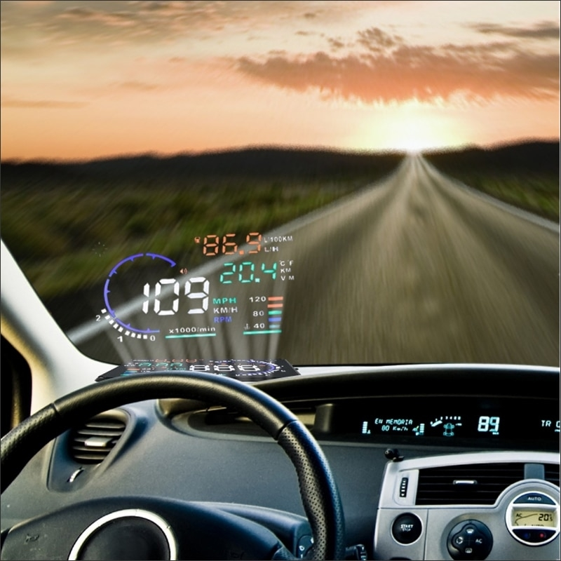us 4875 25 offfor mercedes benz s class w220 projection to windshield cars hud head up display screen projector decrease frequency look down in Mercedes Heads Up Display