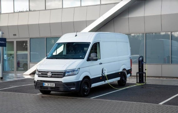 vw commercial e crafter electric cargo van makes uk debut Volkswagen Van Commercial