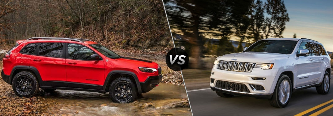 whats the difference between the 2019 jeep cherokee and 2019 Vs Jeep Grand Cherokee
