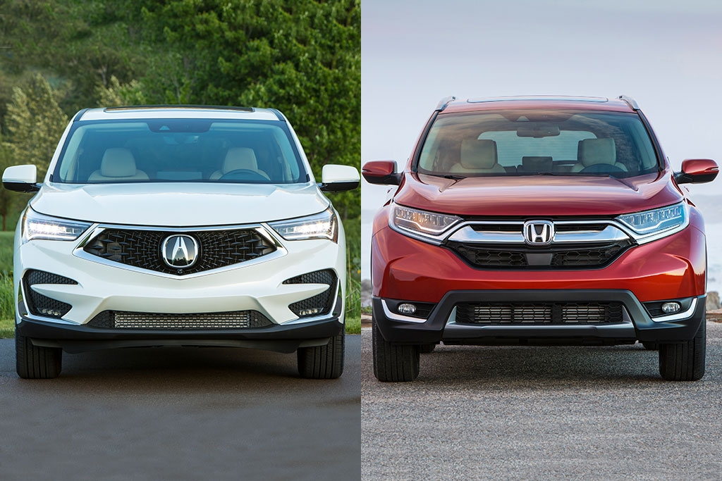 2019 acura rdx vs 2019 honda cr v whats the difference Acura Rdx Vs Honda Crv