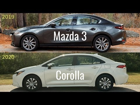 2020 mazda 3 sedan vs toyota corolla 2020 youtube Corolla Vs 2020 Mazda 3