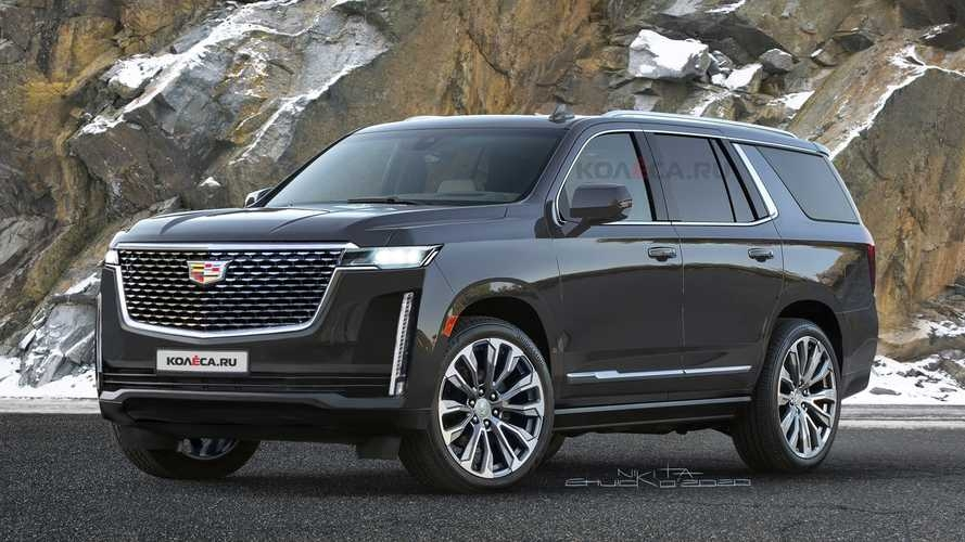 2021 cadillac escalade rendered based on teasers Cadillac Escalade New Body Style