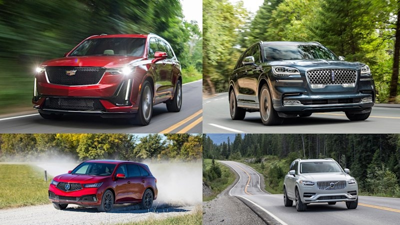 comparison 2020 volvo xc90 vs 2020 cadillac xt6 vs 2020 Lincoln Aviator Vs Volvo Xc90