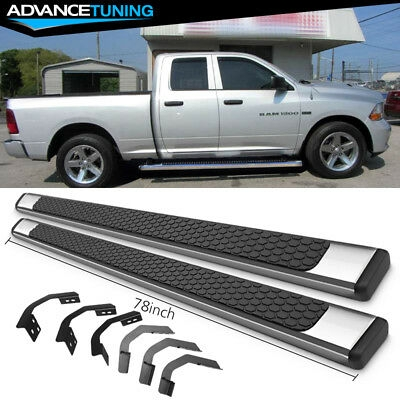 fits 09 18 dodge ram quad cab 78inch oe style running boards ss pair Dodge Ram Quad Cab Running Boards