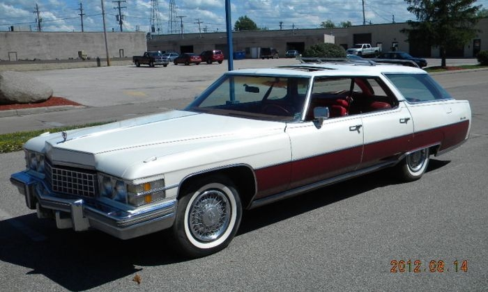 hemmings find of the day 1974 cadillac sedan de vi Cadillac Station Wagon