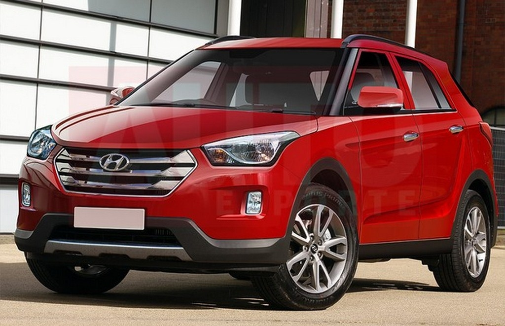 hyundais upcoming compact suv rendered Hyundai Upcoming Suv In India
