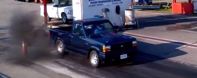 truckin fast 23l turbo ranger rocks the quarter mile Ford Ranger Quarter Mile