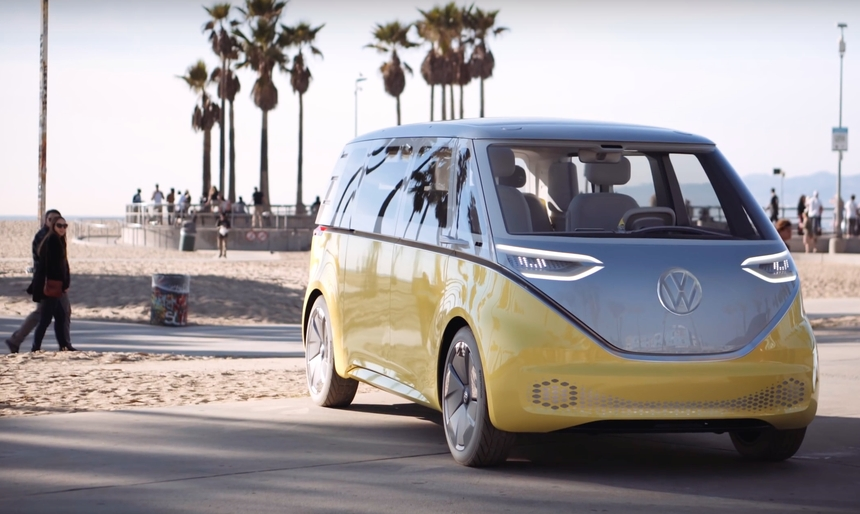 vws re imagined electric microbus an early test drive Electric Volkswagen Bus