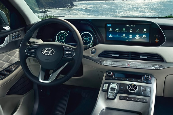compare the 2020 hyundai palisade big island motors Hyundai Palisade Interior