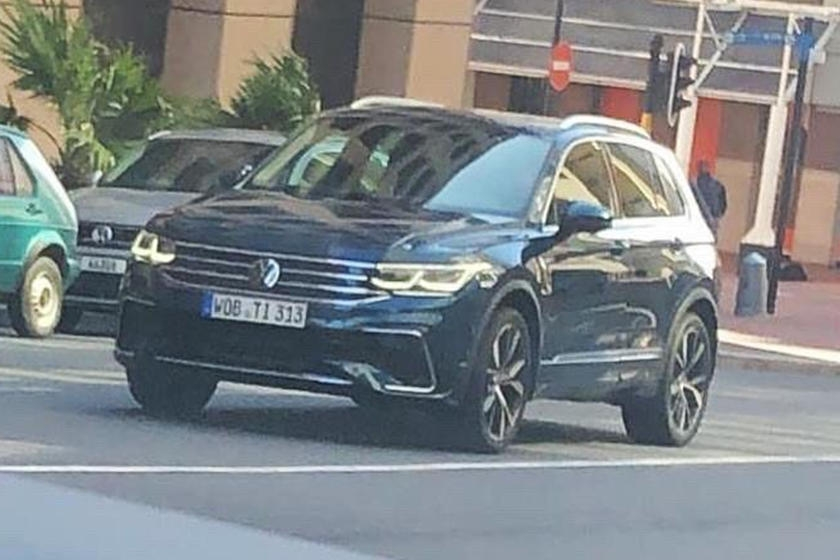 2021 volkswagen tiguan shows its face for the first time Volkswagen Tiguan Facelift