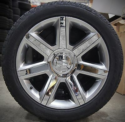 4 new cadillac escalade chrome painted factory oem 22 wheels rims tires esv ebay Cadillac Escalade Wheels