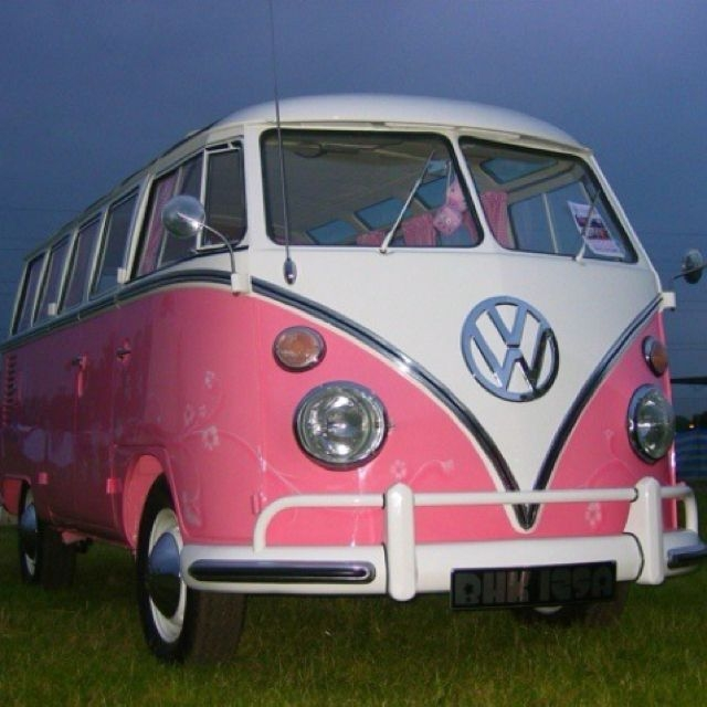 pink volkswagen van pink car girly car vw bus Volkswagen Van Pictures