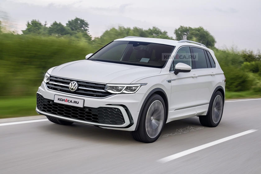 this is our best look yet at the 2021 vw tiguan carbuzz Volkswagen Tiguan Facelift