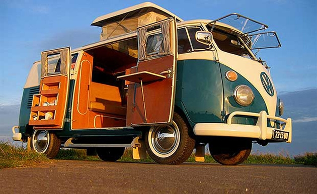 hippie van is back volkswagen re releasing its electric version Volkswagen Hippie Van 2020