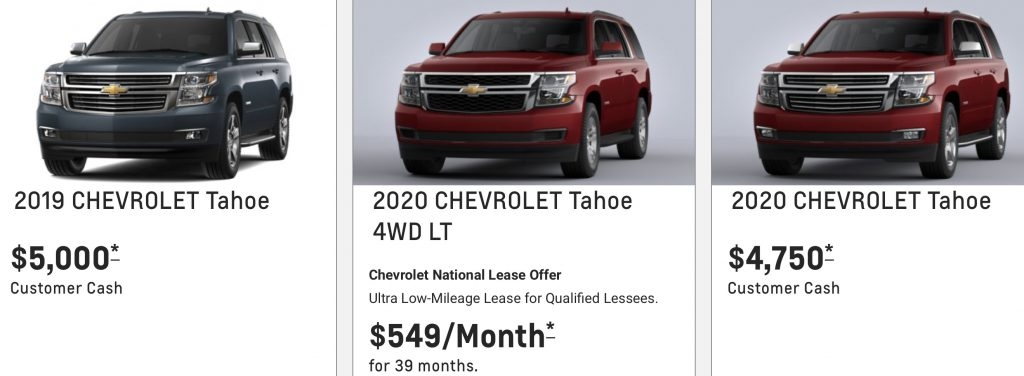 Best chevrolet tahoe discount totals 5000 july 2020 gm authority Chevrolet July 2020 Incentives Release Date