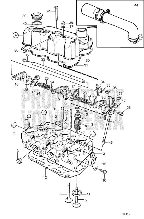 Newest volvo penta exploded view schematic cylinder head md2020 c Volvo Md2020 Parts Research New