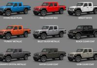 2021 gladiator colors availability dates start of Jeep Gladiator Availability Date