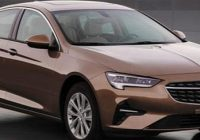 2021 opel insignia leaked as a buick regal in china Opel Insignia Facelift