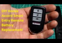 diy honda smart entry key remote battery replacement diycarmodz Honda Key Fob Battery Replacement