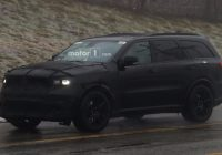 dodge durango srt spied dressed entirely in black Dodge Durango Spy Photos