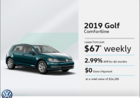 lease the 2021 golf les automobiles popular vw promotion Volkswagen Lease Deals May
