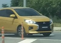 mitsubishi mirage with dynamic shield facelift spotted Mitsubishi Mirage Facelift