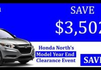 model year end clearance Honda Year End Clearance