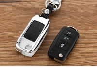 peacekey zinc alloy leather car key cover case for skoda Volkswagen Jetta Key Cover