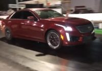 procharged cadillac cts v sets 14 mile world record with Cadillac Cts V Quarter Mile